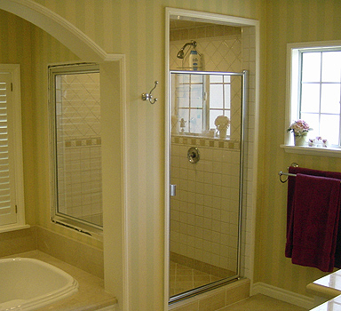 shower doors framed