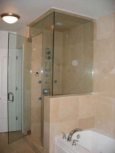 frameless shower door advanced glass pro - Frameless Glass Shower Door